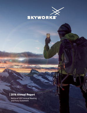 Skyworks Solutions, Inc. annual report 2016