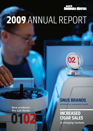 Swedish Match annual report 2009