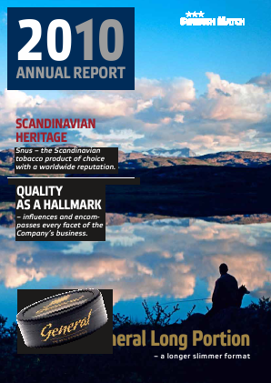 Swedish Match annual report 2010