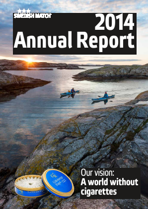 Swedish Match annual report 2014
