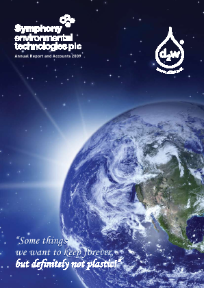 Symphony Environmental Technologies annual report 2009