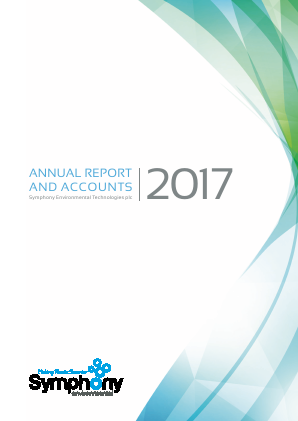 Symphony Environmental Technologies annual report 2017