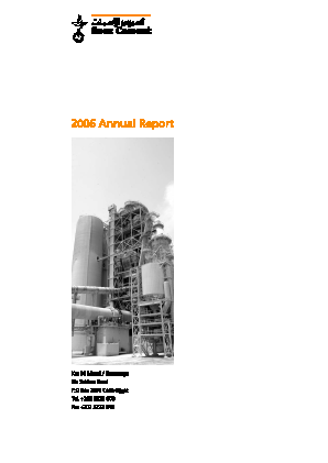 Suez Cement Co annual report 2006