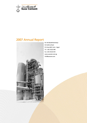 Suez Cement Co annual report 2007