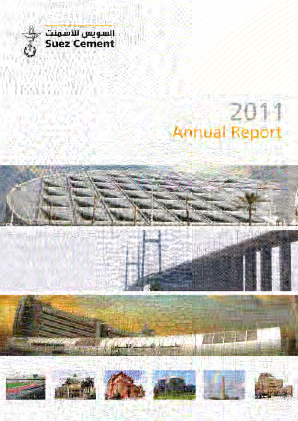 Suez Cement Co annual report 2011