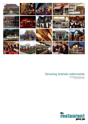 Restaurant Group Plc annual report 2007