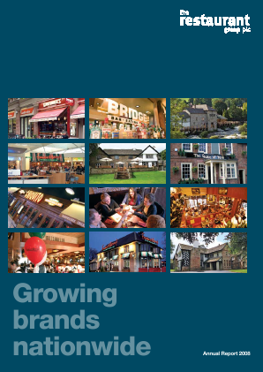 Restaurant Group Plc annual report 2008