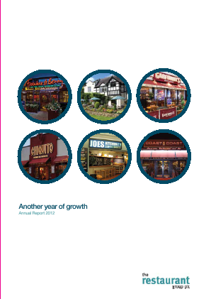 Restaurant Group Plc annual report 2012