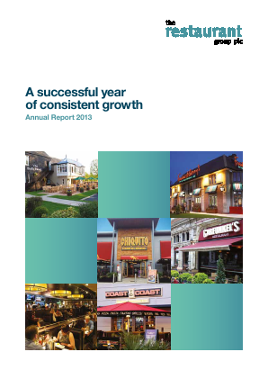 Restaurant Group Plc annual report 2013