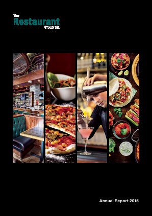 Restaurant Group Plc annual report 2015
