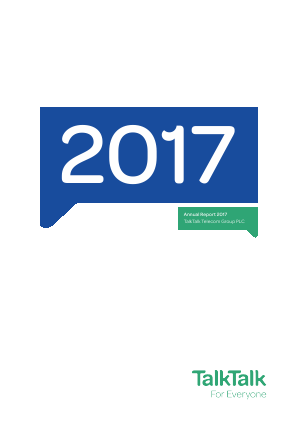 Talk Talk Telecom Group Plc annual report 2017