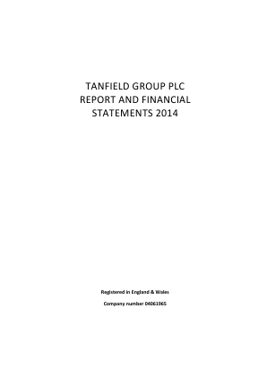Tanfield Group annual report 2014