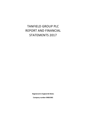 Tanfield Group annual report 2017