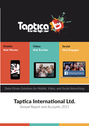 Taptica International annual report 2015