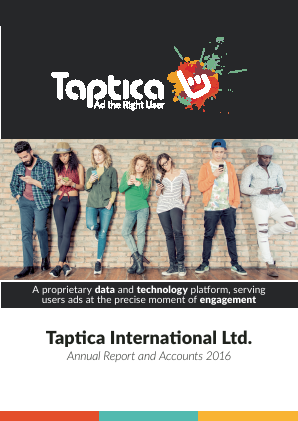Taptica International annual report 2016