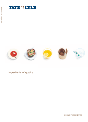 Tate & Lyle annual report 2003