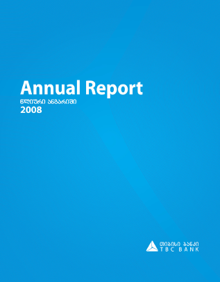 TBC Bank JSC annual report 2008