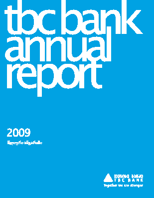 TBC Bank JSC annual report 2009