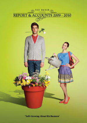 Ted Baker annual report 2010