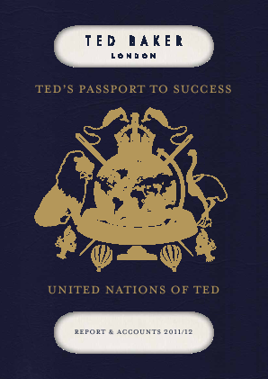 Ted Baker annual report 2012