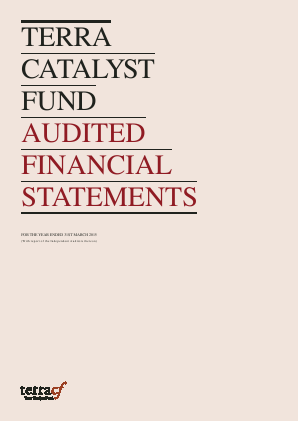 Terra Catalyst Fund annual report 2015