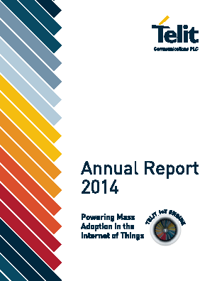 Telit Communications Plc annual report 2014
