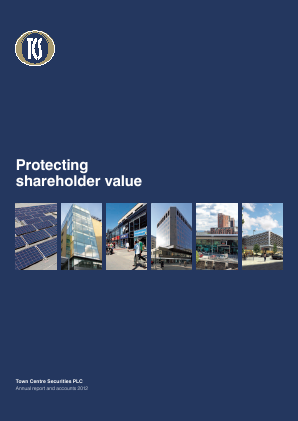 Town Centre Securities annual report 2012