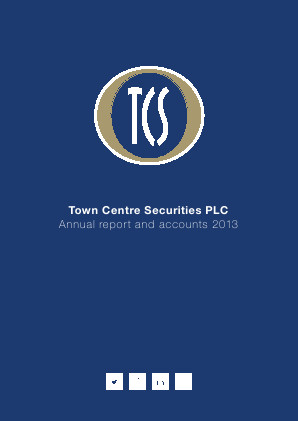 Town Centre Securities annual report 2013