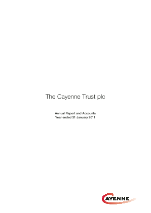 Cayenne Trust(The) annual report 2011
