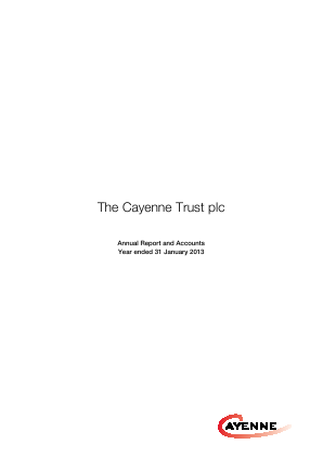 Cayenne Trust(The) annual report 2013