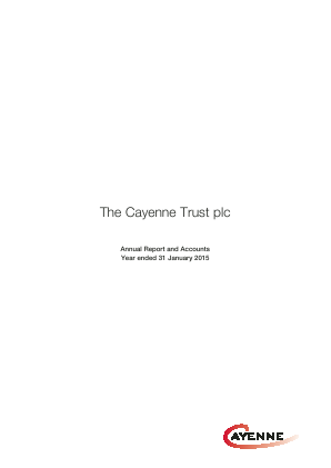 Cayenne Trust(The) annual report 2015
