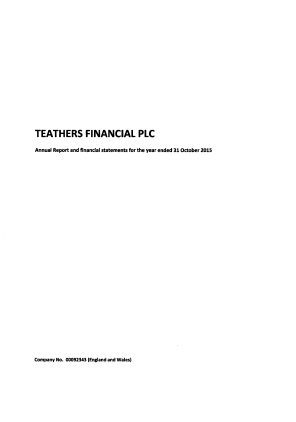 Teathers Financial Plc (formally CA Sperati) annual report 2015