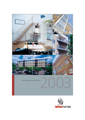 Telford Homes annual report 2003