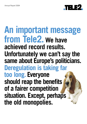 Tele2 annual report 2004