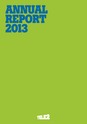 Tele2 annual report 2013
