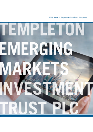 Templeton Emerg Mark Investment Trust annual report 2016