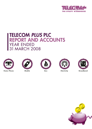 Telecom Plus annual report 2008