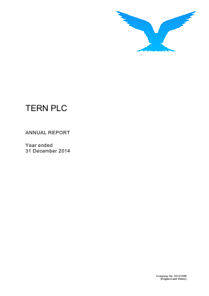 Tern Plc annual report 2014