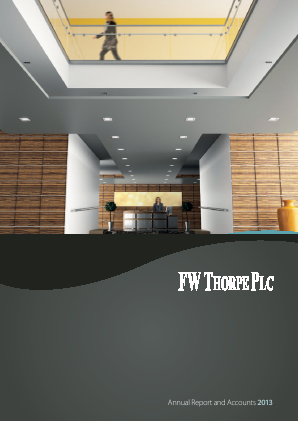 Thorpe(F.W.) annual report 2013