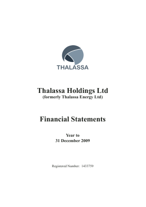 Thalassa Holdings annual report 2009