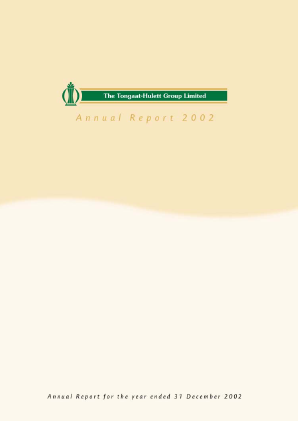 Tongaat Hulett annual report 2002