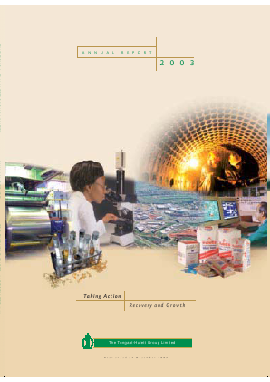 Tongaat Hulett annual report 2003