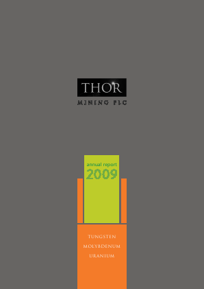 Thor Mining annual report 2009