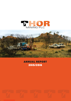 Thor Mining annual report 2016