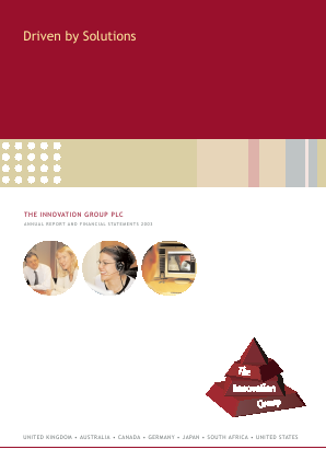 Innovation Group annual report 2003