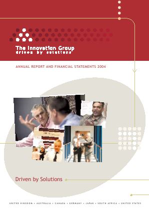 Innovation Group annual report 2004