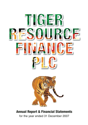 Tiger Resource Finance annual report 2007