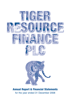 Tiger Resource Finance annual report 2008