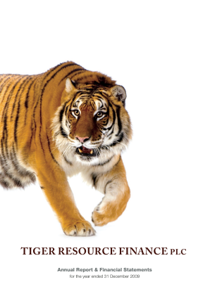 Tiger Resource Finance annual report 2009