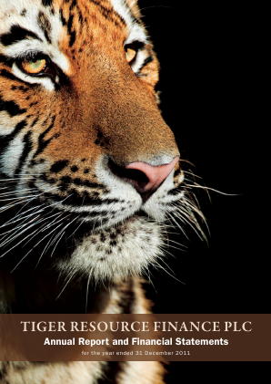 Tiger Resource Finance annual report 2011